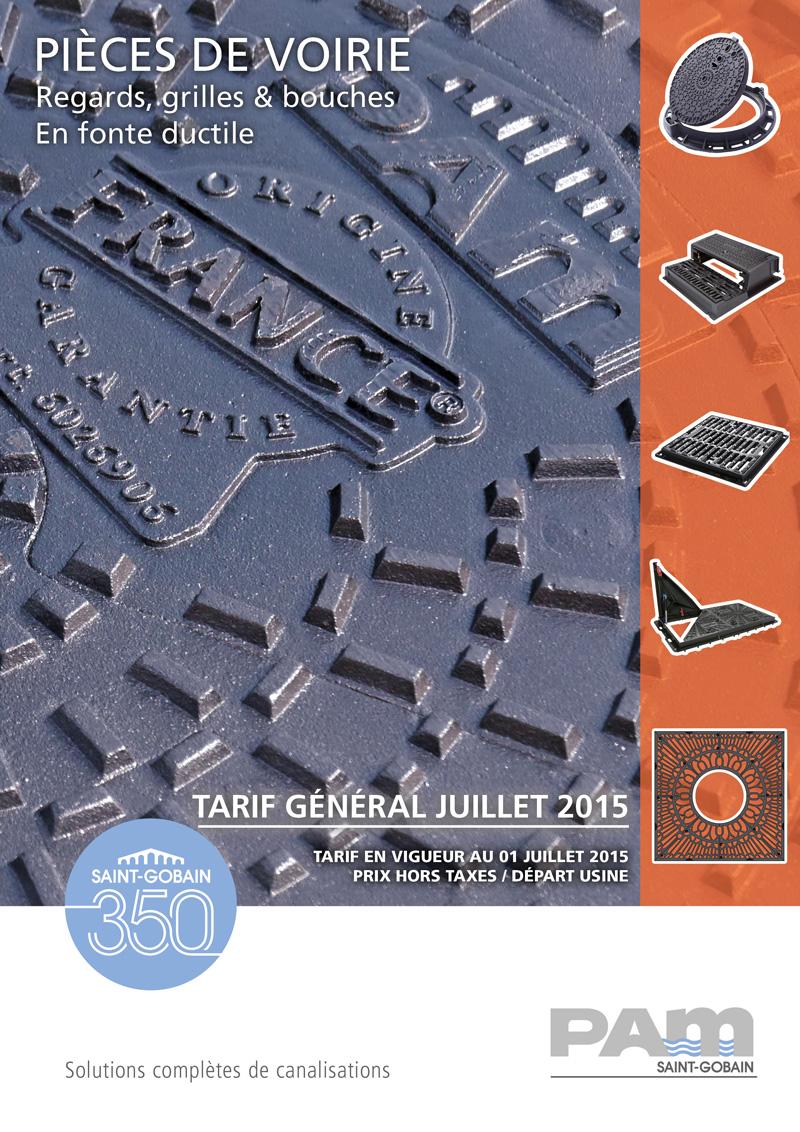pièces de voirie regards, grilles, bouches Tarif général 2015