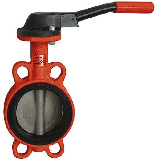 HYDRO Typ HL für Abwasser: Einklemmklappe mit Handhebel