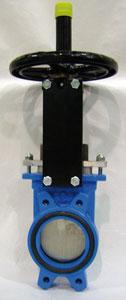 Plattenschieber  PAMCUT Typ AB : Gehäuse aus Gusseisen mit Epoxy-Beschichtung