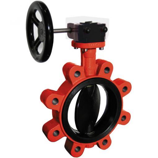 HYDRO-E Typ GH für Abwasser: geeignet als Endarmatur mit Getriebe und Handrad