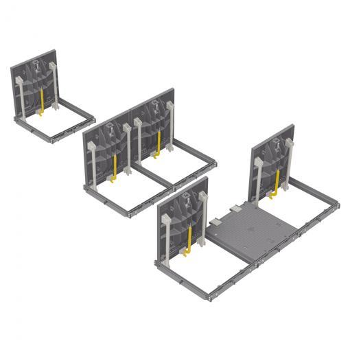 PAMETIC ® - Trappes étanches F 900 avec assistance à l'ouverture par vérins mécaniques